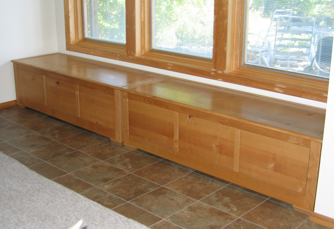 Window seat with storage drawers