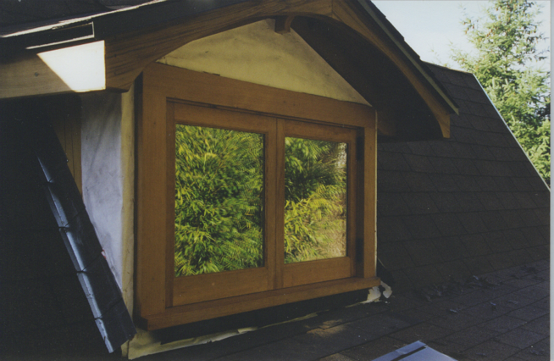 Custom douglas fir french opening window