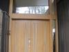 Exterior view Oregon oak entry doors
