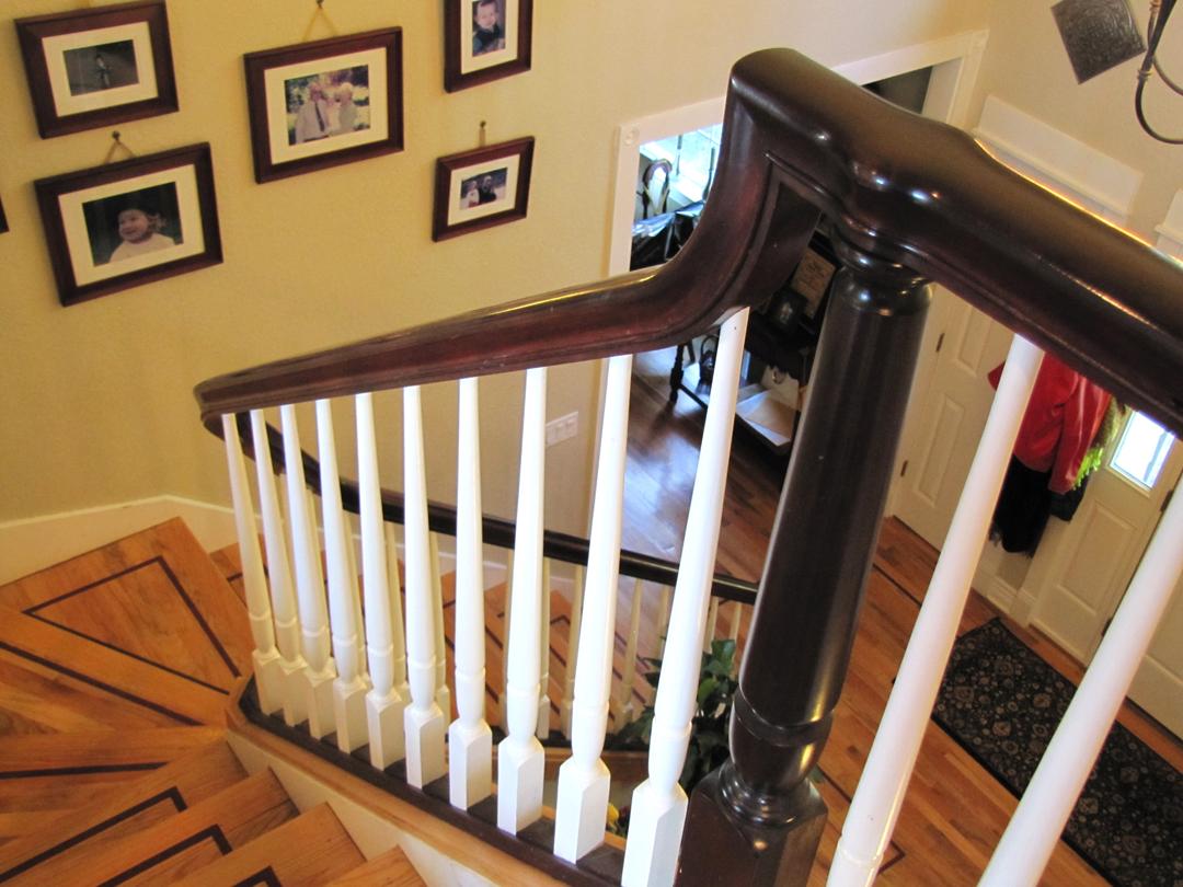 Curved, elegant handrail