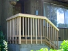 Handrail on outdoor porch
