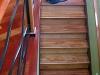 Brazilian cherry, maple and walnut stair