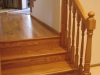 Red Oak stair landing