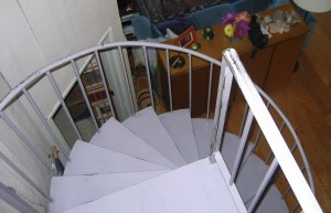 spiral staircase view from top