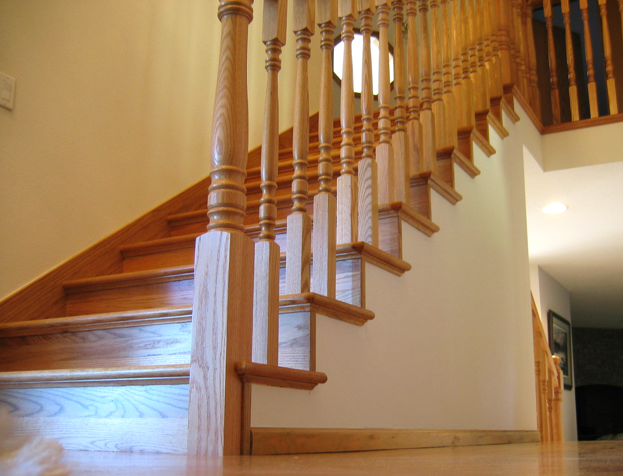 AFTER U2013 Finished Red Oak Stairway