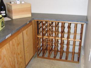 open wine rack cabinet